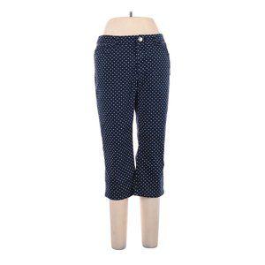 Womens 12 Polka Dot Navy Blue Chaps Capri Jeans